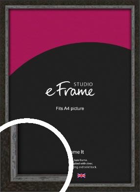 Slim Antique Brown Picture Frame, A4 (210x297mm) (VRMP-1286-A4)