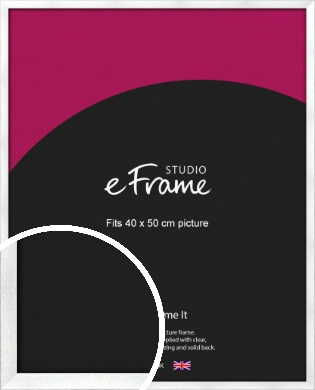 Squared Frosted Silver Picture Frame, 40x50cm (VRMP-A065-40x50cm)
