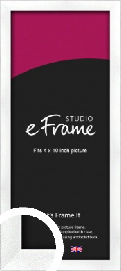 Squared Frosted Silver Picture Frame, 4x10