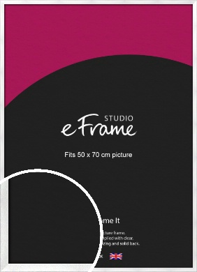Squared Frosted Silver Picture Frame, 50x70cm (VRMP-A065-50x70cm)