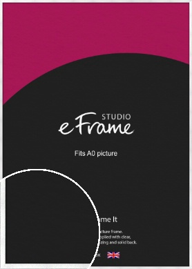 Squared Frosted Silver Picture Frame, A0 (841x1189mm) (VRMP-A065-A0)