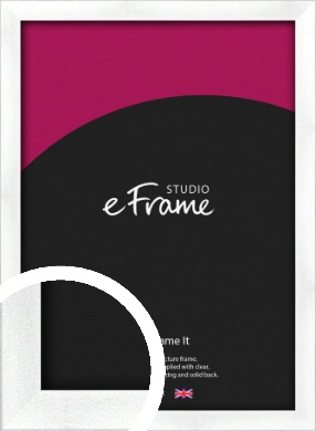 Squared Frosted Silver Picture Frame (VRMP-A065)