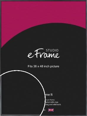 Slender Rectangular Black Picture Frame, 36x48