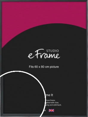 Slender Rectangular Black Picture Frame, 60x80cm (VRMP-A066-60x80cm)