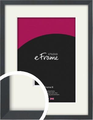 Slender Rectangular Black Picture Frame & Mount (VRMP-A066-M)