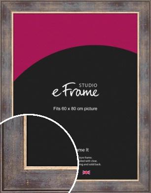 Heavily Worn Gold & Brown Picture Frame, 60x80cm (VRMP-470-60x80cm)