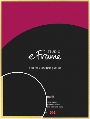 Chamfered Gold Picture Frame, 36x48