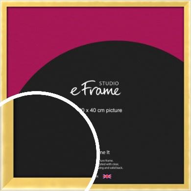 Chamfered Gold Picture Frame, 40x40cm (VRMP-A058-40x40cm)