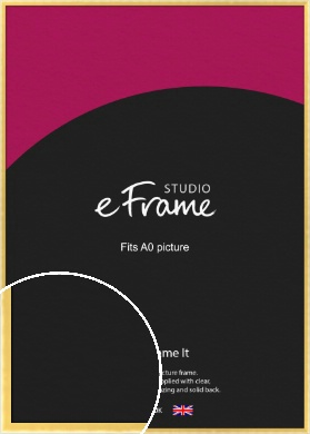 Chamfered Gold Picture Frame, A0 (841x1189mm) (VRMP-A058-A0)