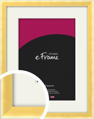 Chamfered Gold Picture Frame & Mount (VRMP-A058-M)
