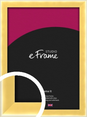 Chamfered Gold Picture Frame (VRMP-A058)