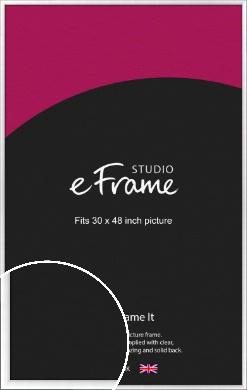 Contemporary Slant Silver Picture Frame, 30x48
