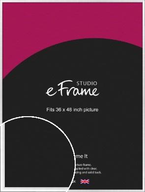Contemporary Slant Silver Picture Frame, 36x48
