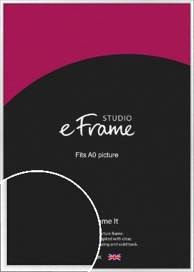 Contemporary Slant Silver Picture Frame, A0 (841x1189mm) (VRMP-A059-A0)