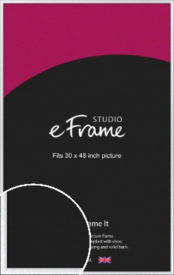 Contemporary Bevelled Silver Picture Frame, 30x48
