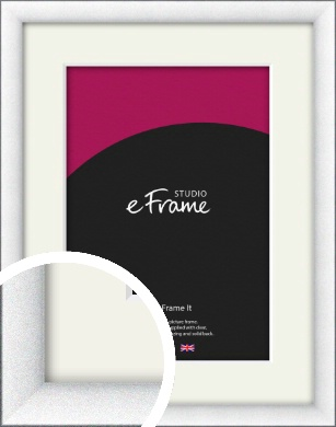 Contemporary Bevelled Silver Picture Frame & Mount (VRMP-A060-M)