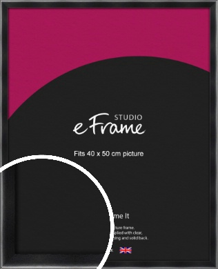 Rounded Chamfered Black Picture Frame, 40x50cm (VRMP-A061-40x50cm)