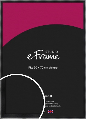 Rounded Chamfered Black Picture Frame, 50x70cm (VRMP-A061-50x70cm)