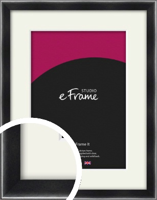 Rounded Chamfered Black Picture Frame & Mount (VRMP-A061-M)
