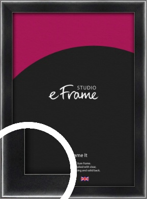 Rounded Chamfered Black Picture Frame (VRMP-A061)