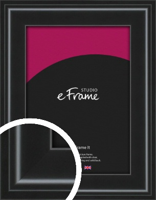 Raised Outer Edge Smooth Black Picture Frame (VRMP-1298)