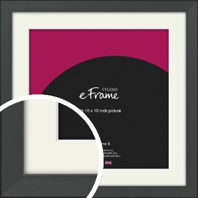 Clean Tapered Black Picture Frame & Mount, 10x10