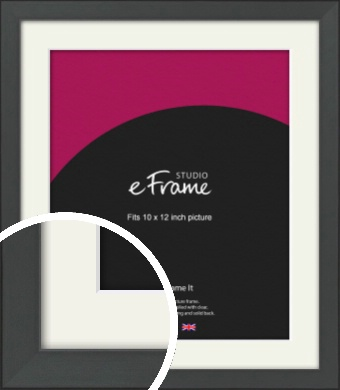 Clean Tapered Black Picture Frame & Mount, 10x12