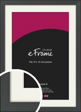 Clean Tapered Black Picture Frame & Mount, 10x15