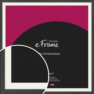 Clean Tapered Black Picture Frame & Mount, 30x30