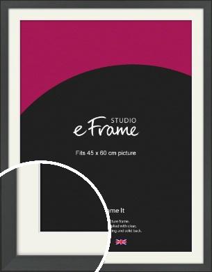 Clean Tapered Black Picture Frame & Mount, 45x60cm (VRMP-1299-M-45x60cm)