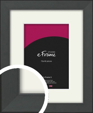 Clean Tapered Black Picture Frame & Mount, A6 (105x148mm) (VRMP-1299-M-A6)