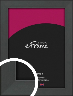 Clean Tapered Black Picture Frame (VRMP-1299)