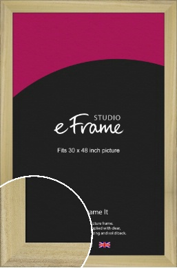 Prime Unfinished Natural Wood Picture Frame, 30x48