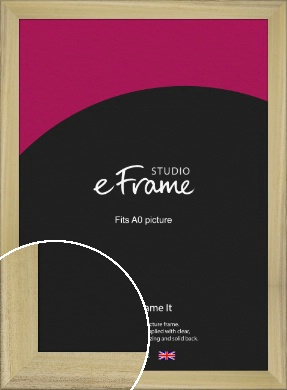 Prime Unfinished Natural Wood Picture Frame, A0 (841x1189mm) (VRMP-1300-A0)