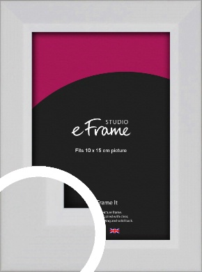 Simple Chamfered White Picture Frame, 10x15cm (4x6