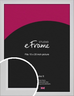 Simple Chamfered White Picture Frame, 15x20
