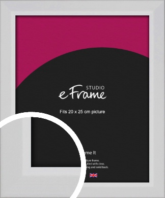 Simple Chamfered White Picture Frame, 20x25cm (8x10