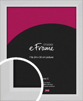 Simple Chamfered White Picture Frame, 24x30cm (VRMP-1301-24x30cm)