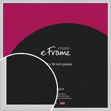 Simple Chamfered White Picture Frame, 30x30