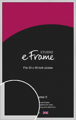 Simple Chamfered White Picture Frame, 30x48