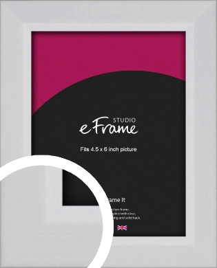 Simple Chamfered White Picture Frame, 4.5x6
