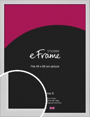 Simple Chamfered White Picture Frame, 45x60cm (VRMP-1301-45x60cm)