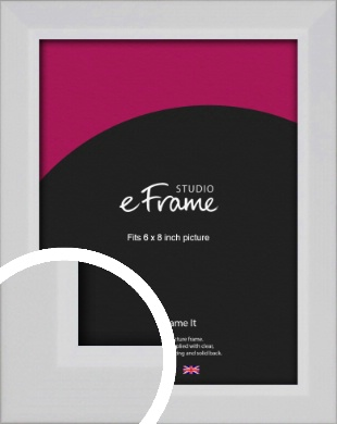 Simple Chamfered White Picture Frame, 6x8