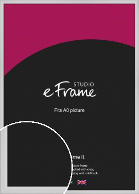 Simple Chamfered White Picture Frame, A0 (841x1189mm) (VRMP-1301-A0)