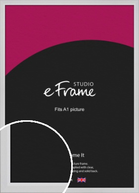 Simple Chamfered White Picture Frame, A1 (594x841mm) (VRMP-1301-A1)