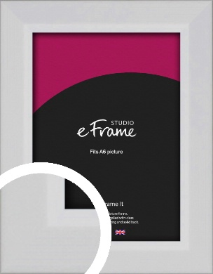 Simple Chamfered White Picture Frame, A6 (105x148mm) (VRMP-1301-A6)