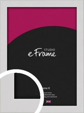Narrow Flat Fresh White Picture Frame (VRMP-1302)