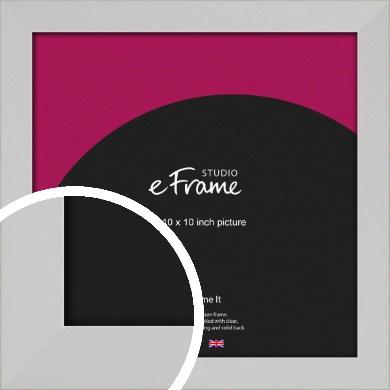 Bright White Picture Frame, 10x10