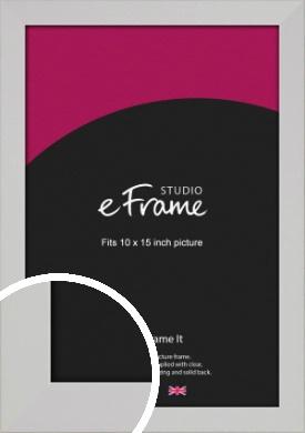 Bright White Picture Frame, 10x15