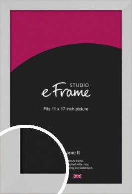 Bright White Picture Frame, 11x17